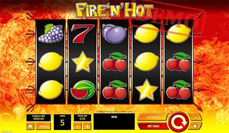 Fire n 'Hot Bitcoin Slot di Tom Horn Gaming.