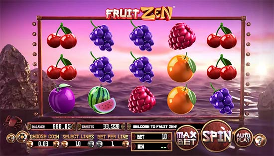 Fruit Zen gioco di slot Betsoft.