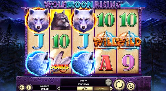 Slot Wolf Moon Rising di Betsoft.
