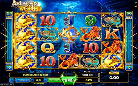 Atlantis World Bitcoin Slot gioco da GameArt.