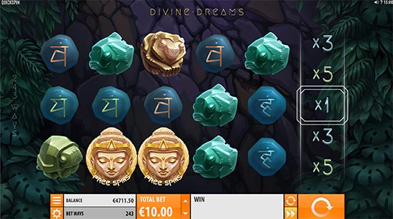Divine Dreams slot di Quickspin.