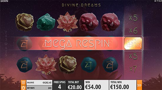 Slot Divine Dreams di Quickspin.