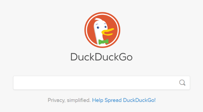 Screenshot di DuckDuckGo.com
