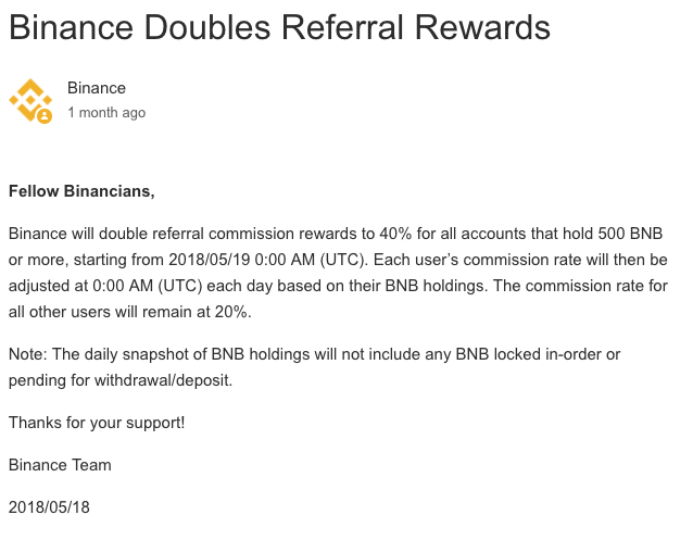 Binance Double Referral Rewards